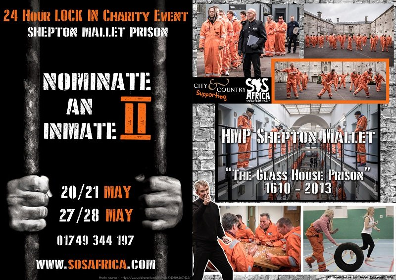 """Nominate an Inmate 2"" 24 Hour Charity Lock-In Event at Shepton Mallet Prison"